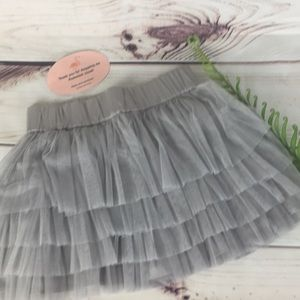 H&M Tiered Tulle Ruffle Mini Skirt Size Small
